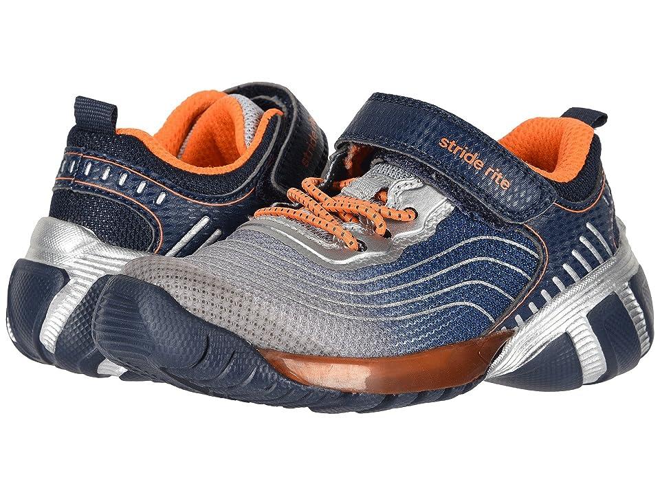 Stride Rite SR-Lights Kadin (Little Kid) (Navy/Grey) Boys Shoes