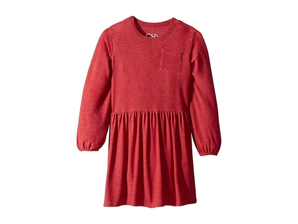 Chaser Kids Mini Dress with Pocket (Little Kids/Big Kids) (Cardinal) Girl