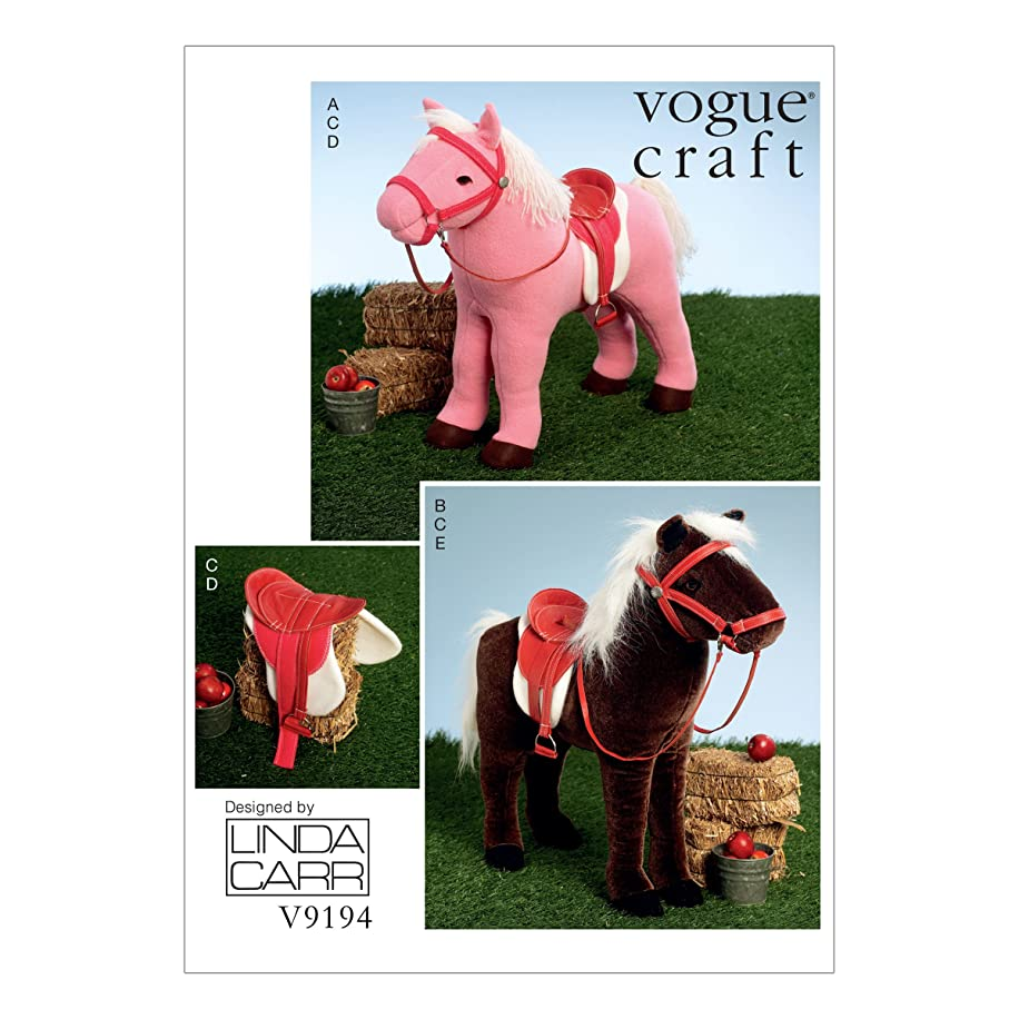Vogue Patterns V9194OSZ Plush Toy Horse Sewing Pattern for Girls, One Size