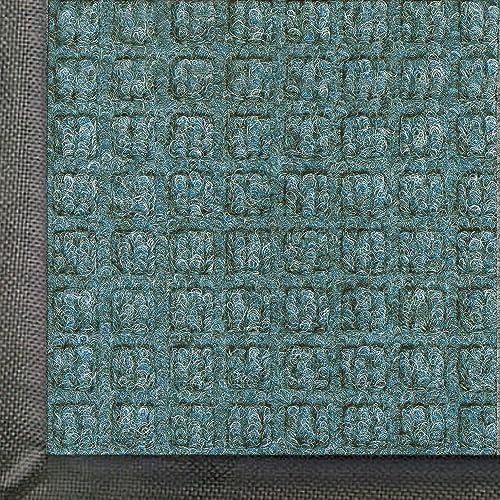 WaterHog Commercial-Grade Entrance Mat, Indoor/Outdoor Floor Mat 8' Length x 4' Width, Bluestone by M+A Matting