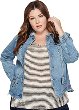 Plus Size Waisted Trucker Jacket