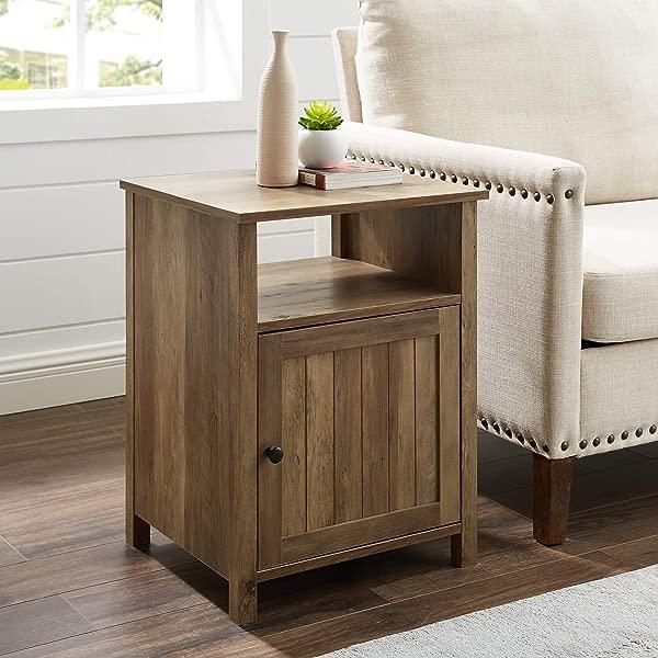 WE Furniture AZF18CRASTRO Side Table Reclaimed Barnwood