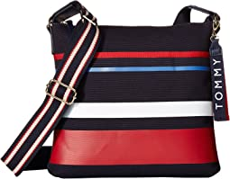 Classic Tommy North/South Horizon Stripe Canvas Crossbody