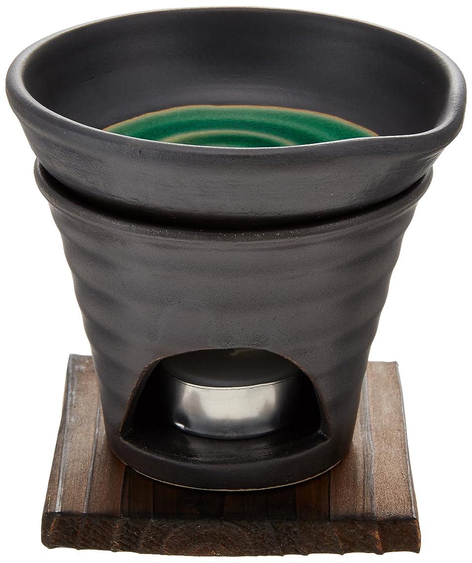 神経障害貧しいエクスタシー香炉 黒釉 茶香炉(緑) [R11.8xH11.5cm] HANDMADE プレゼント ギフト 和食器 かわいい インテリア