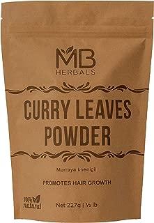 MB Herbals Ground Curry Leaves Powder | Curry Leaf Powder | 227 Gram | Half Pound | Promotes Hair Growth | Controls Hair Fall | Improves EyeSight