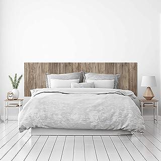 MEGADECOR Cabecero Cama PVC Decorativo Económico Textura Madera Roble Tostada con Vetas Varios Tamaños (150 cm x 60 cm)