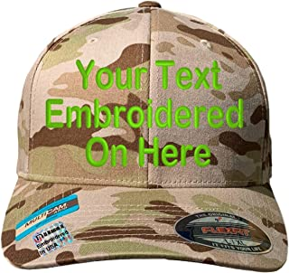 Custom Hat Flexfit 6277 6533 Delta /& More Embroidered Your Own Text Curved Bill