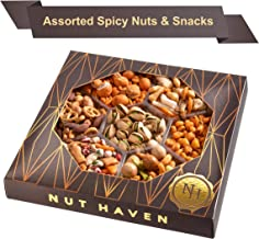 Nut Haven Holiday Nuts Christmas Gift Basket | Tasty Assortment of Crackers, Pretzels, Nuts & More | Excellent Food Gift Basket for Christmas, Thanksgiving, Family, Birthday, Sympathy, Men & Women