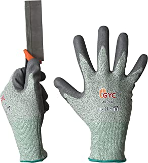 GYC Gloves Cut Resistant Gloves Safety Work Gloves - Level 5 Cut Protection, 10 Pairs Pack - High Performance Dexterity & Breathability, Comfortable (TK-713D, Size 9, 10 Pairs)