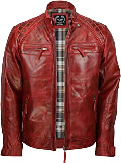 b142105b03 Amazon.it: giacca in pelle uomo - Rosso / Giacche / Giacche e ...