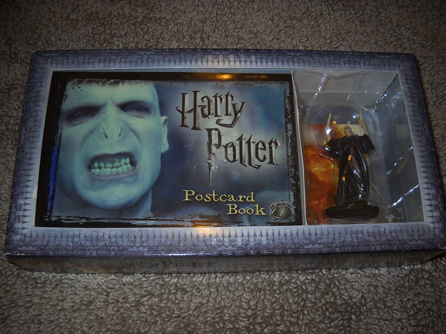 Harry Potter Postcard Book with Limited Edition Voldemort Figure