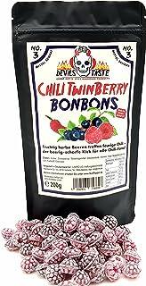 Chili TwinBerry Bonbon - Blaubeere und Himbeere scharf 200gr im Zip Beutel BliBerry