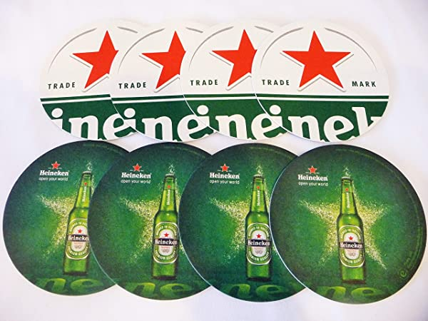 Heineken Beer Coaster Set Red Star Set Of 8 Eight