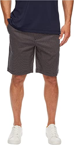 Stretch Sateen Geo Print Shorts