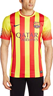 Nike FC Barcelona SHORT SLEEVE AWAY REPLICA JERSEY (VIBRANT YELLOW) (XL)