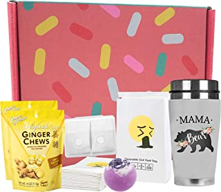 Primo Lines Pregnancy Must Haves First Trimester Box - Anti Nausea For Pregnancy Care Box with Mama Bear Tumbler, Anti Nau...