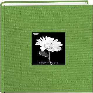 Fabric Frame Cover Photo Album 200 Pockets Hold 4×6 Photos, Citrus Green