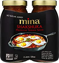 Mina Shakshuka Tomato Sauce, Savory Marinara Sauce Crafted with Moroccan Herbs and Spices, Perfect as Pasta Sauce, Keto Fo...