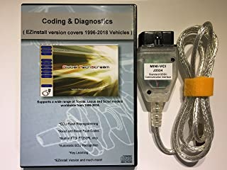 capital_auto Mini VCI J2534 Diagnostic Cable for Toyota Lexus Scion TIS Techstream V13.00.022