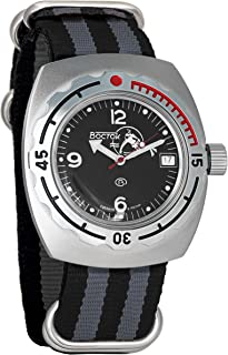 Vostok Amphibian Automatic Mens Wristwatch Self-Winding Military Diver Amphibia Case Wrist Watch #090634 Scuba Dude