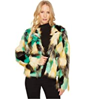 ROMEO & JULIET COUTURE Multicolor Faux Fur Jacket