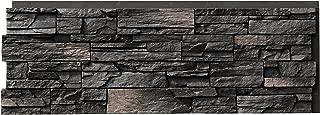 NextStone Polyurethane Faux Stone Panel - Country Ledgestone - Andean Onyx (4 Panels per Box)