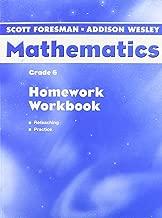 SCOTT FORESMAN ADDISON WESLEY MATH 2004 HOMEWORK WORKBOOK GRADE 6