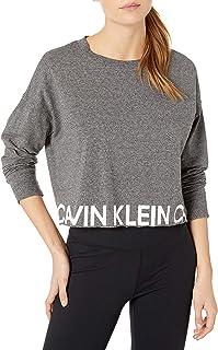 CALVIN KLEIN Women's Bold Calvin Hem Long Sleeve Pullover