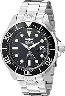 Men's 3044 Stainless Steel Grand Diver Automatic Watch, Silver/Black