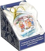 """G. Debrekht Gift Giver Santa Glass Ball Ornament, 3.5"""""""