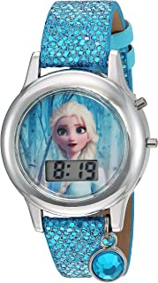 Frozen Girls' Quartz Watch with Plastic Strap, Turquoise,...