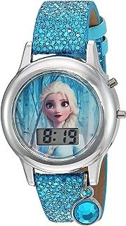 ساعة كوارتز للبنات مع سوار بلاستيك من فروزن، لون فيروزي، 16 (الموديل: FZN4508AZ)