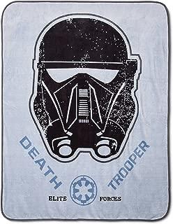 Jay Franco Star Wars Rogue One Throw Blanket, Gray