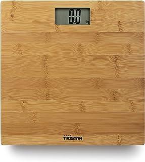 Tristar WG-2432 - Báscula Personal Digital con Pantalla LCD, Peso hasta 180 kg, hasta 0.1 kg de Precisión, Carcasa de Estilo Bambú