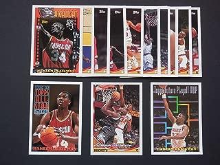 Houston Rockets 1993-94 Topps Basketball Team Set (NBA Finals World Champions) (4 Hakeem Olajuwon Cards) (Vernon Maxwell) (Robert Horry) (Sam Cassell Rookie)