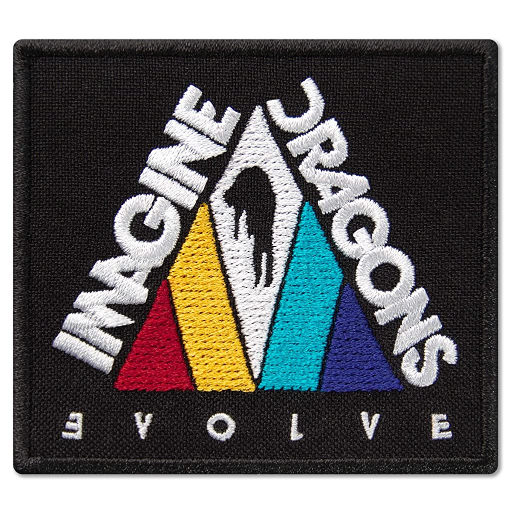 Imagine Dragons Evolve Triangle Album Cover Music Rock Band Embroidered Patch Iron On (2.9