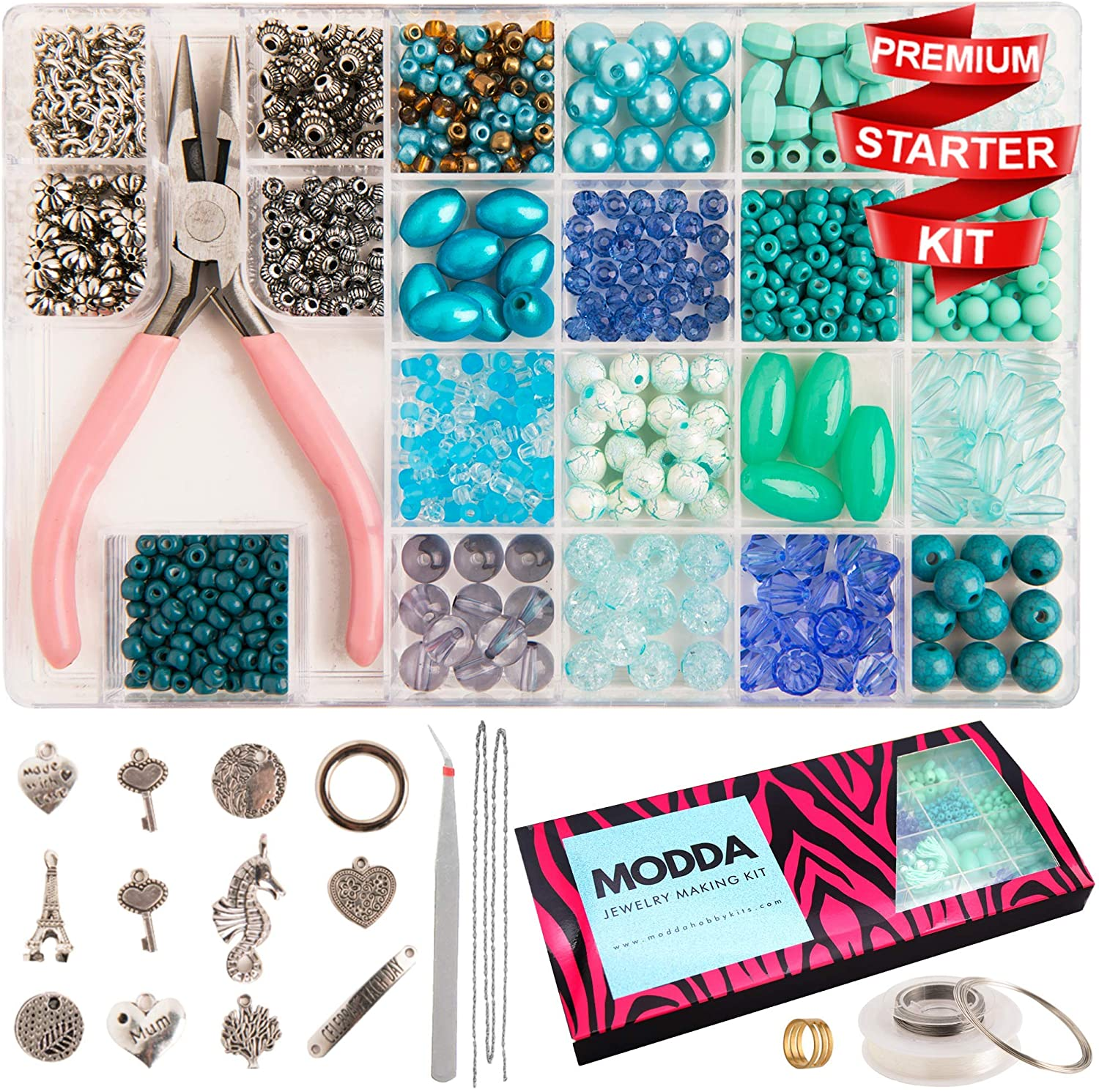 Modda Jewelry Making Kit - Unique Gift Ideas For 17 Year Old Female Teenage Girl