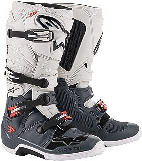 Alpinestars Tech 7 Off-Road Motocross Boot (8 US, Dark Gray Light Gray Red)