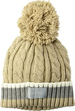 Color Block Cable Beanie
