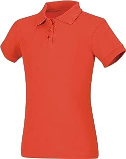 CLASSROOM Girls' Interlock Cap Sleeve Polo