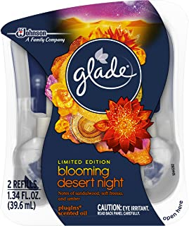 Glade Plugins Scented Oil Air Freshener 2 Piece Refill, Blooming Desert Night, 1.34 Fluid Ounce