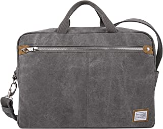 Travelon Anti-Theft Heritage Messenger Briefcase, Pewter (Gray) - 33073 540