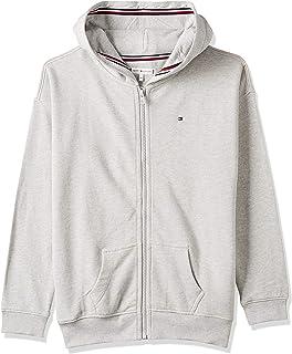 Tommy Hilfiger Girl's Essential Signature Zip Hoodie, Grey, 86 EU