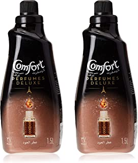 Comfort Perfumes Deluxe Concentrated Fabric Softener Luxurious Oud, 1.5L (Pack of 2)
