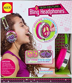 ALEX Toys Do-it-Yourself Wear Pink and Green Tech Couture Bling Headphones