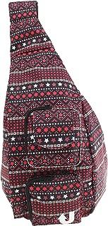Canvas Crossbody Shoulder Backpack Sling Bag-JB1001 (Red)