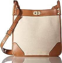 Michael Kors Womens Sullivan Messenger North South Handbag Ivory Large