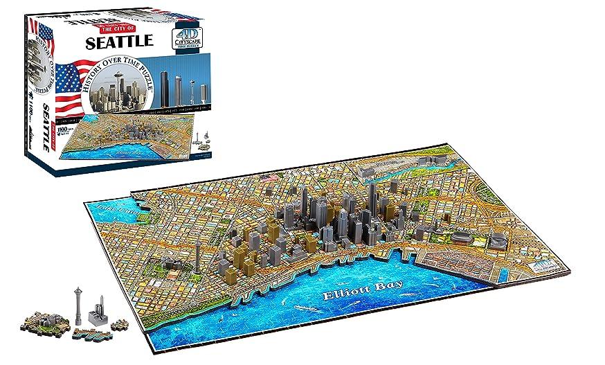 4D Cityscape Seattle Time Puzzle (1100+ Pieces)