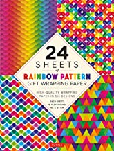 """24 sheets of Rainbow Patterns Gift Wrapping Paper: High-Quality 18 x 24"""" (45 x 61 cm) Wrapping Paper"""