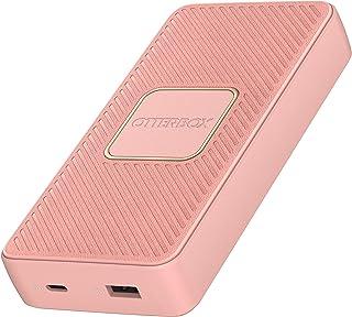 OtterBox robust snabbladdare 15K mAh USB A&C 18W USB-PD Powerbank med 10W Qi trådlös laddning - Rosa